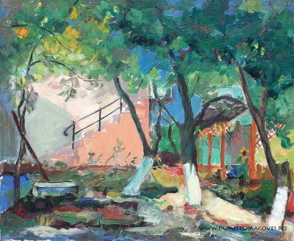 pictor Dumitru Macovei, 2 mai, In curte
