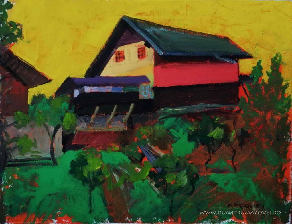 pictor Dumitru Macovei, Casa pe deal