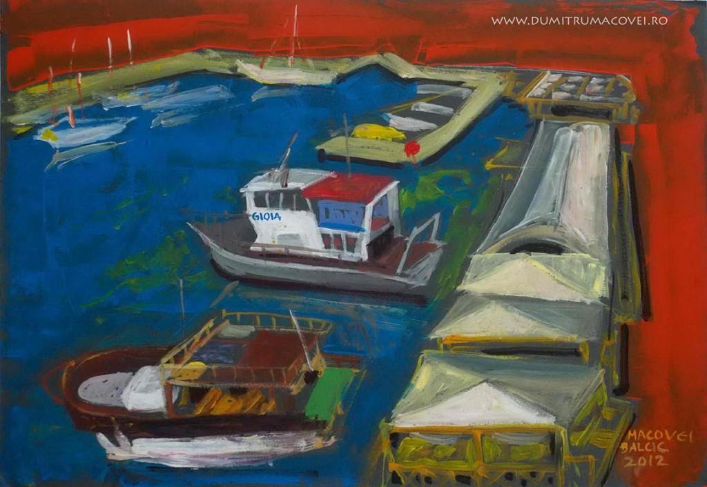 pictor Dumitru Macovei, Iahturi in port, Balcic