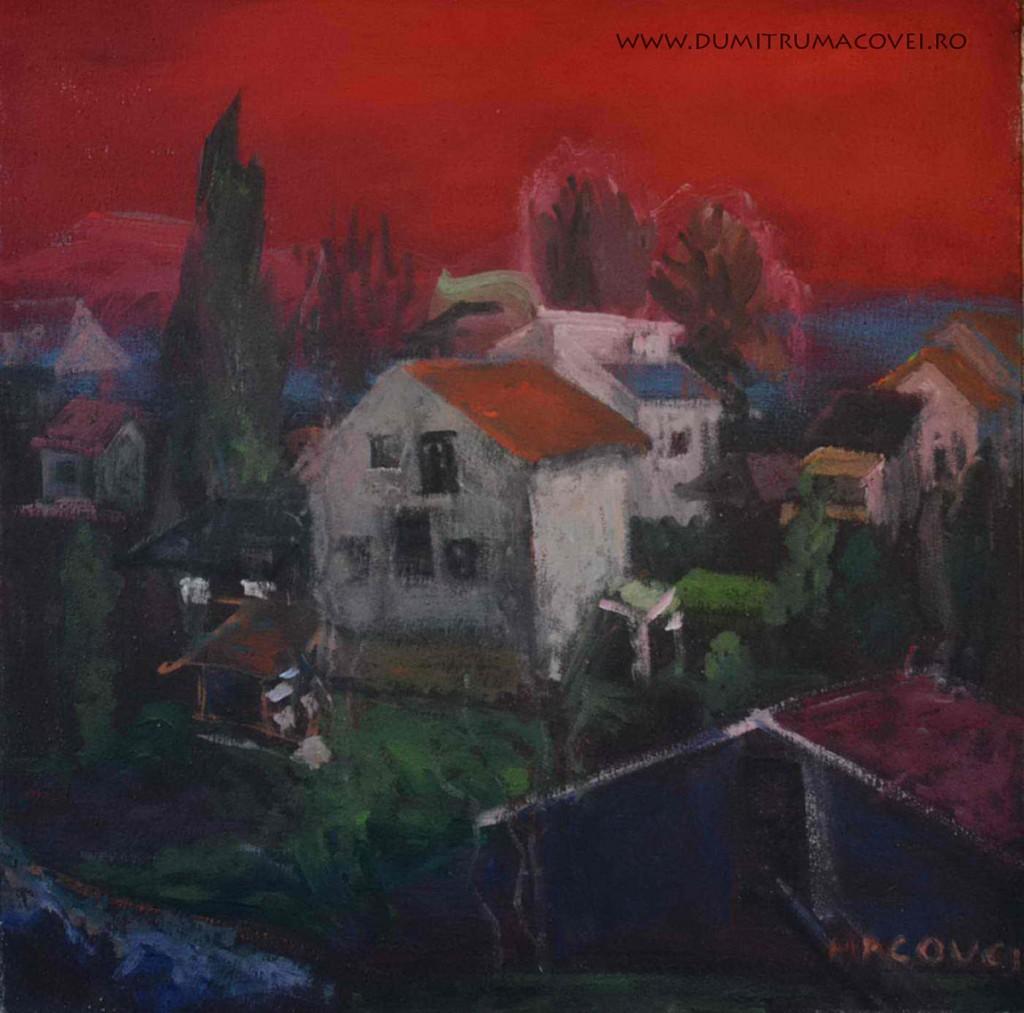 pictor Dumitru Macovei, peisaj Gradiste Velikie Serbia 2012