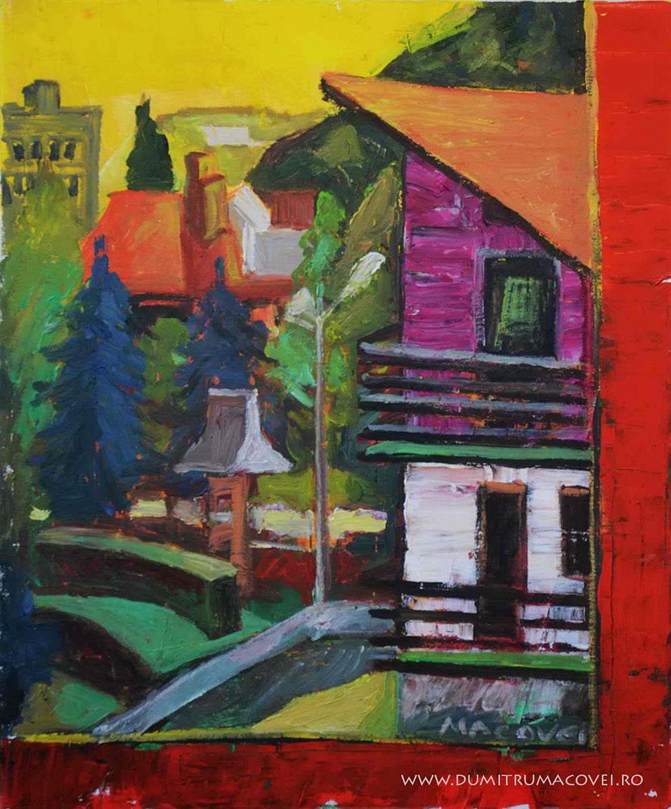 pictor Dumitru Macovei, Sinaia, Vedere pe geam