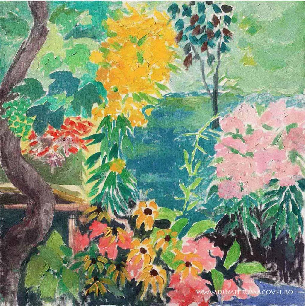 pictor Dumitru Macovei, Flori in gradin