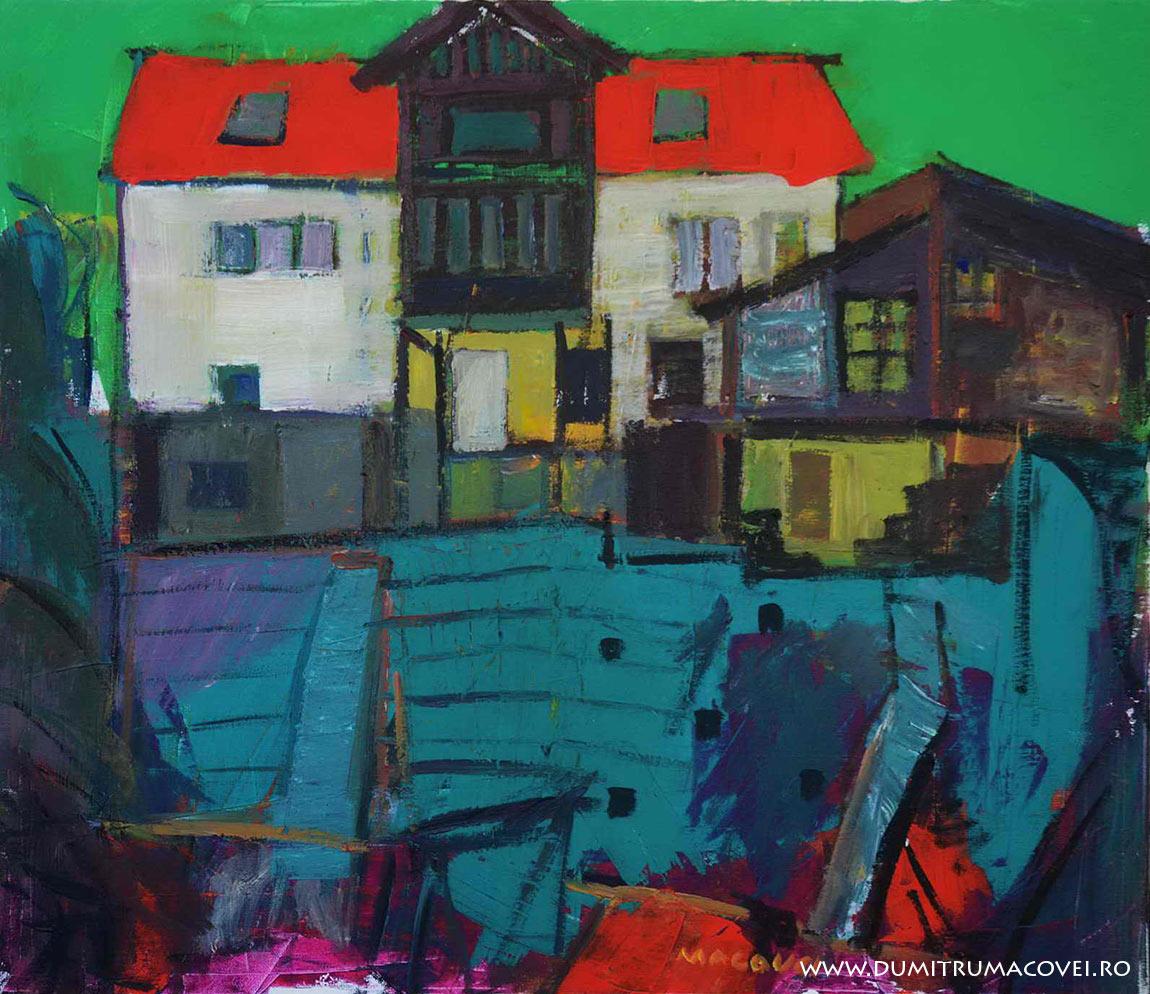 pictor Dumitru Macovei, Casa pe deal, Sinaia