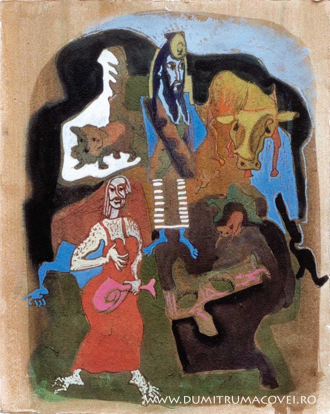pictor Dumitru Macovei, Fizonomiile noptii VI