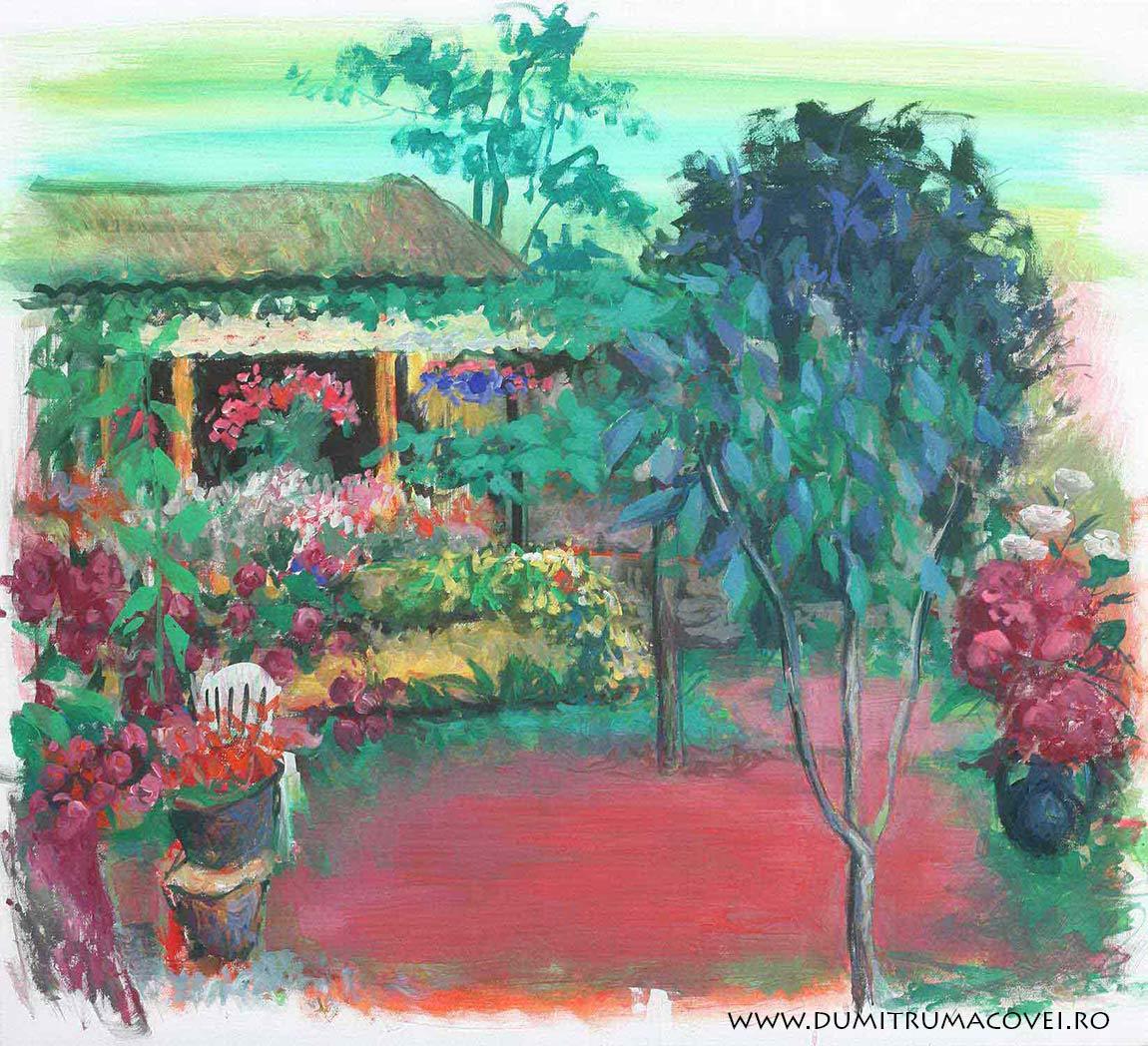 pictor Dumitru Macovei, In gradina II