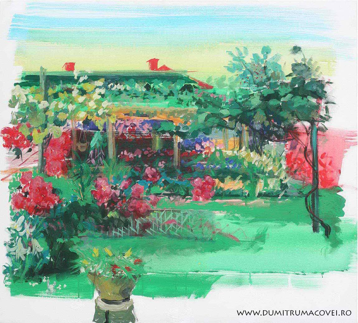 pictor Dumitru Macovei, In gradina III