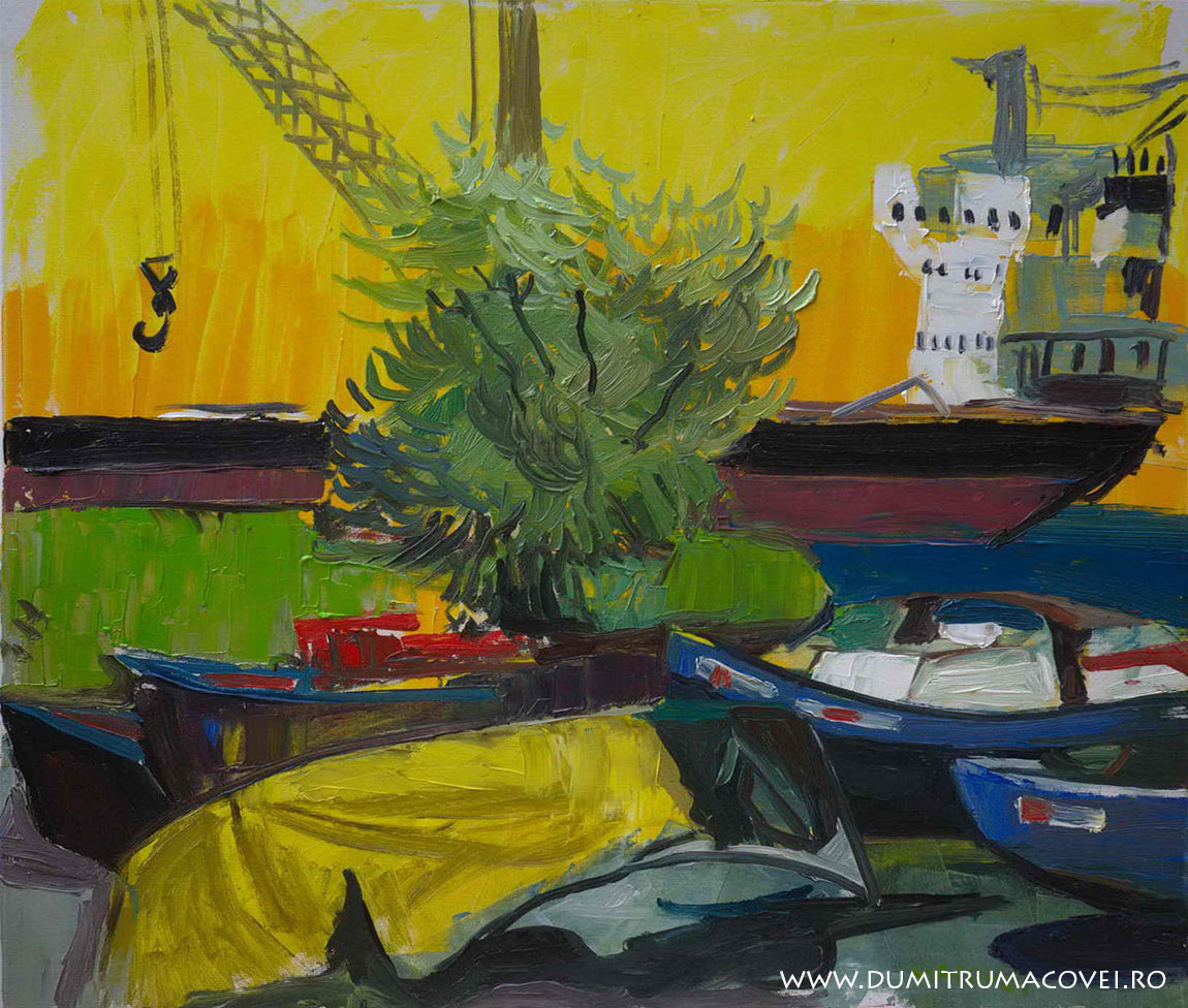 pictor Dumitru Macovei, In port, Mangalia