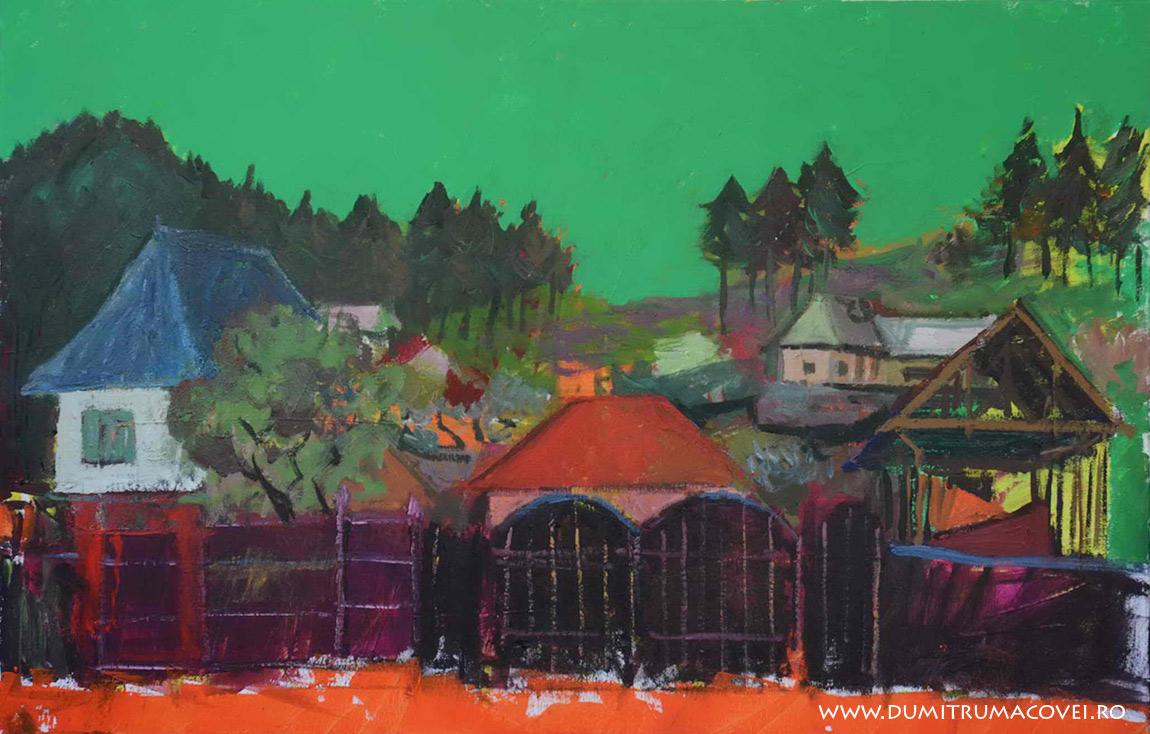 pictor Dumitru Macovei, In sat