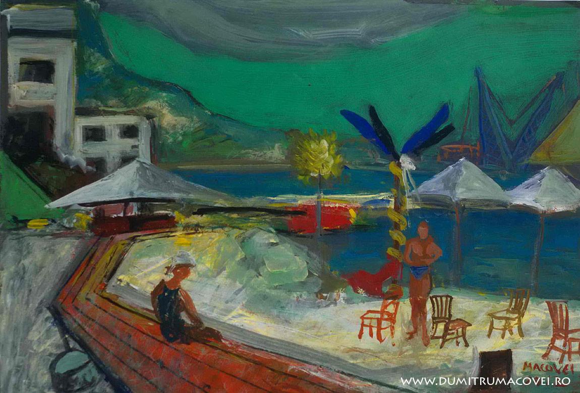 pictor Dumitru Macovei, Pe faleza, Balcic