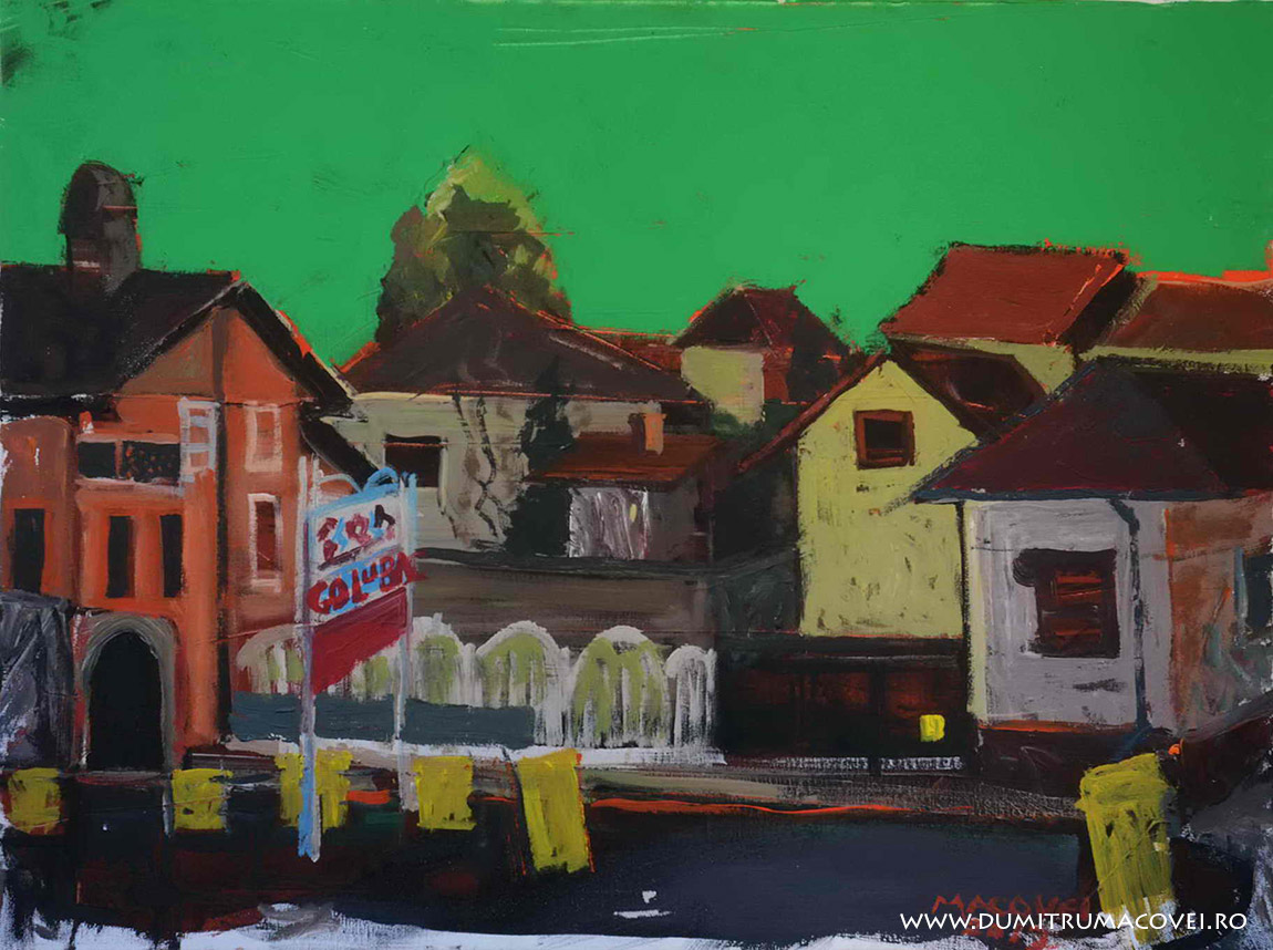 pictor Dumitru Macovei, Pe malul Dunarii, Golobat - Serbia