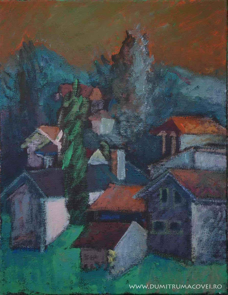 pictor Dumitru Macovei, Peisaj - Serbia, Gradiste
