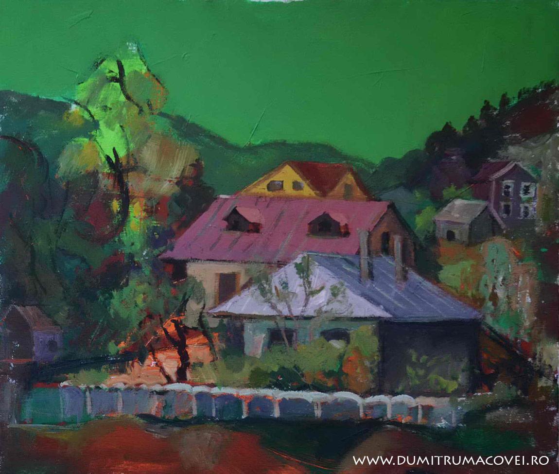 pictor Dumitru Macovei, Targu Ocna, peisaj