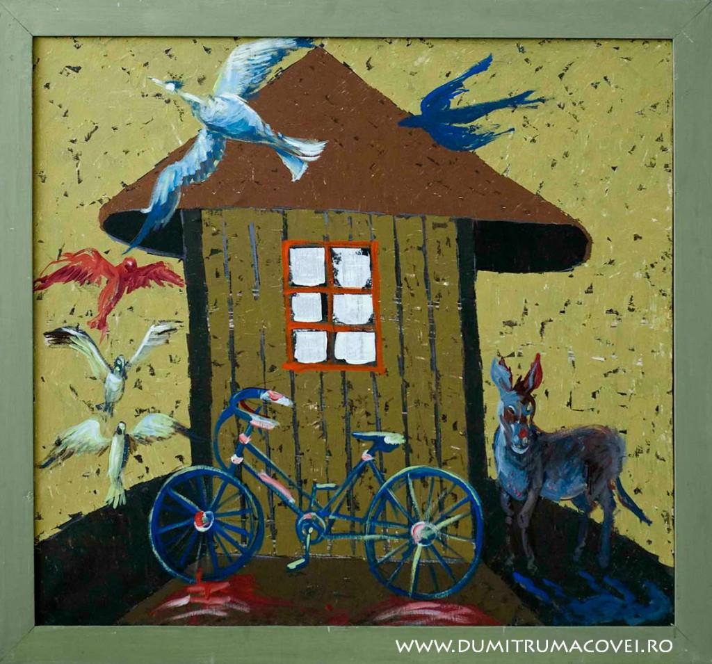 pictor Dumitru Macovei, fara Mitza biciclista