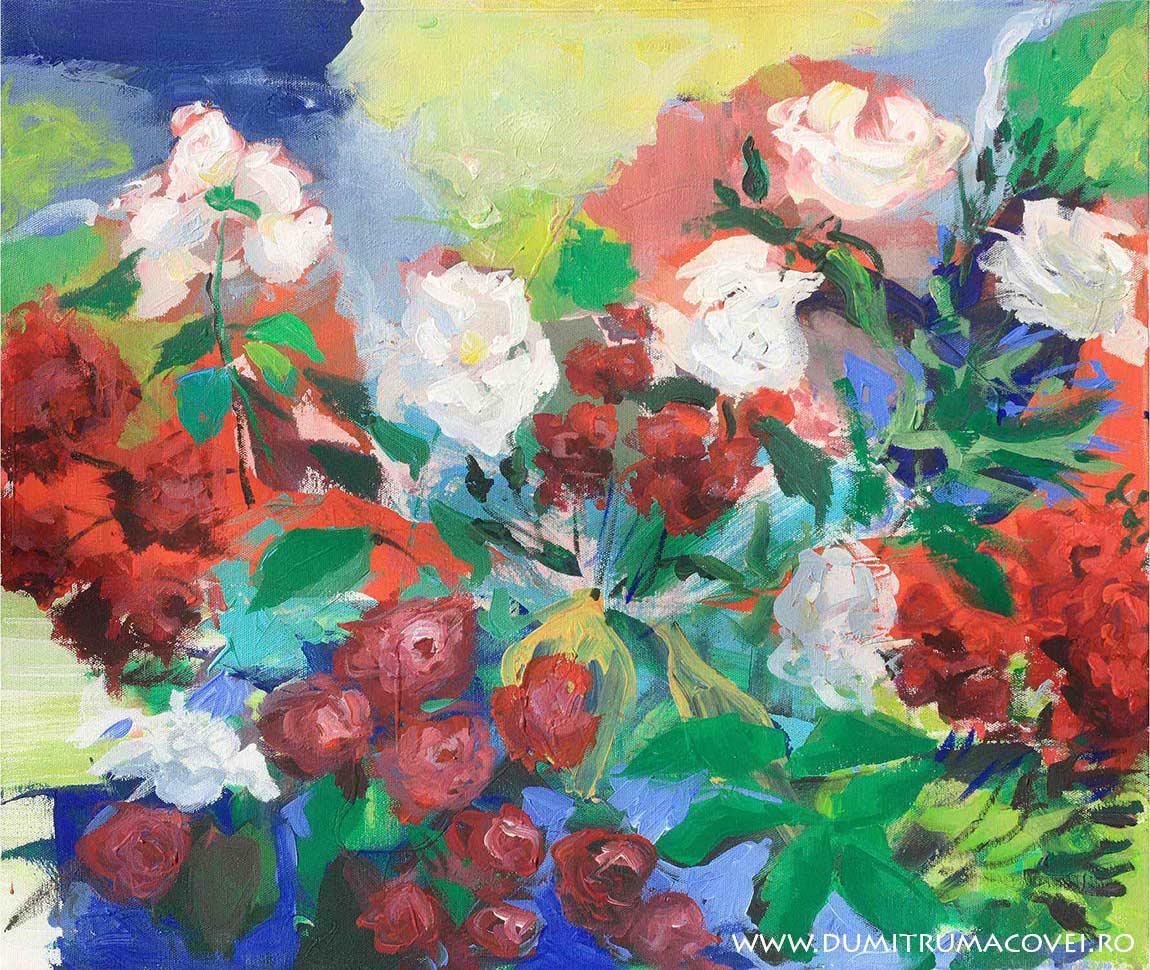 pictor Dumitru Macovei, Trandafiri albi