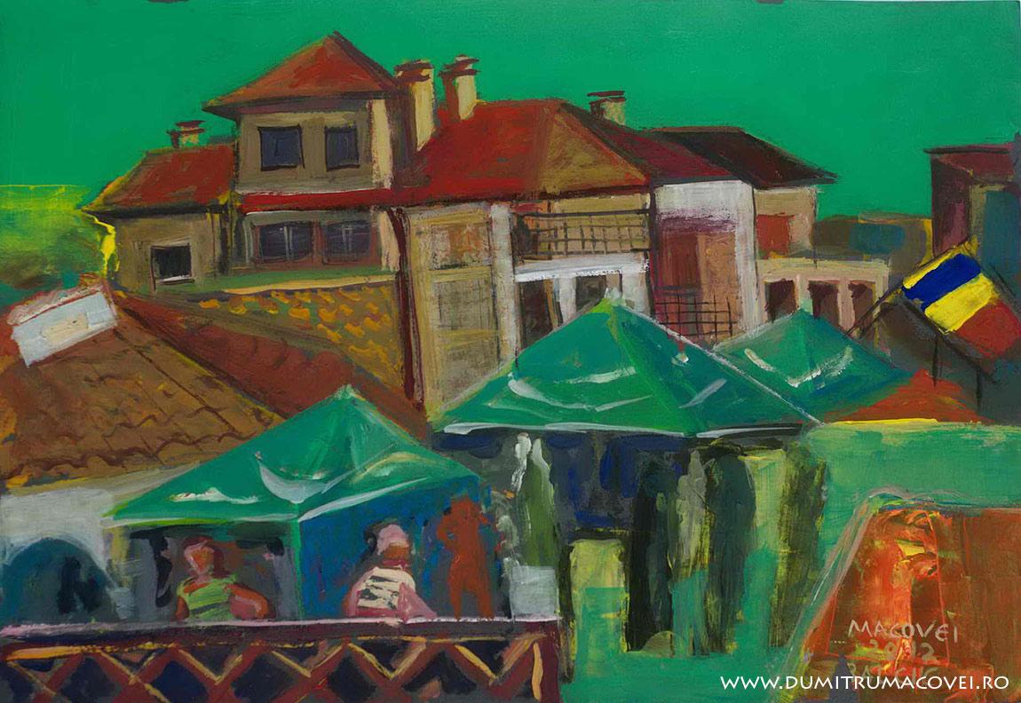 pictor Dumitru Macovei, Vedere din balcon