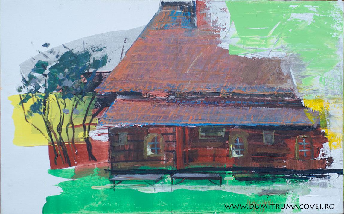 pictor Dumitru Macovei, acril pe panza, 80 x 50