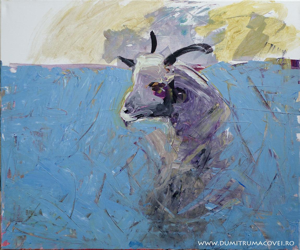 pictor Dumitru Macovei, Iedul, acril pe panza, 60 x 50