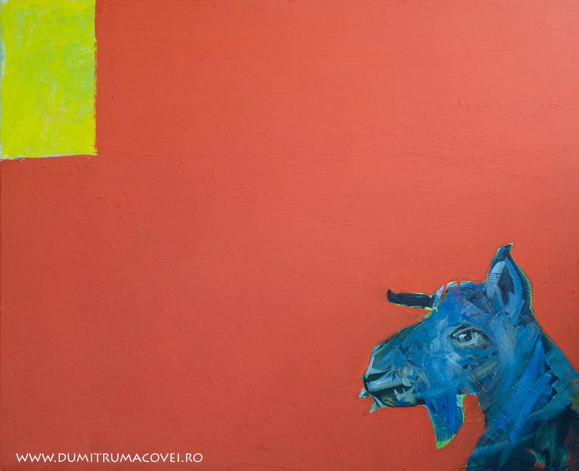pictor Dumitru Macovei, acril pe panza, 100 x 80