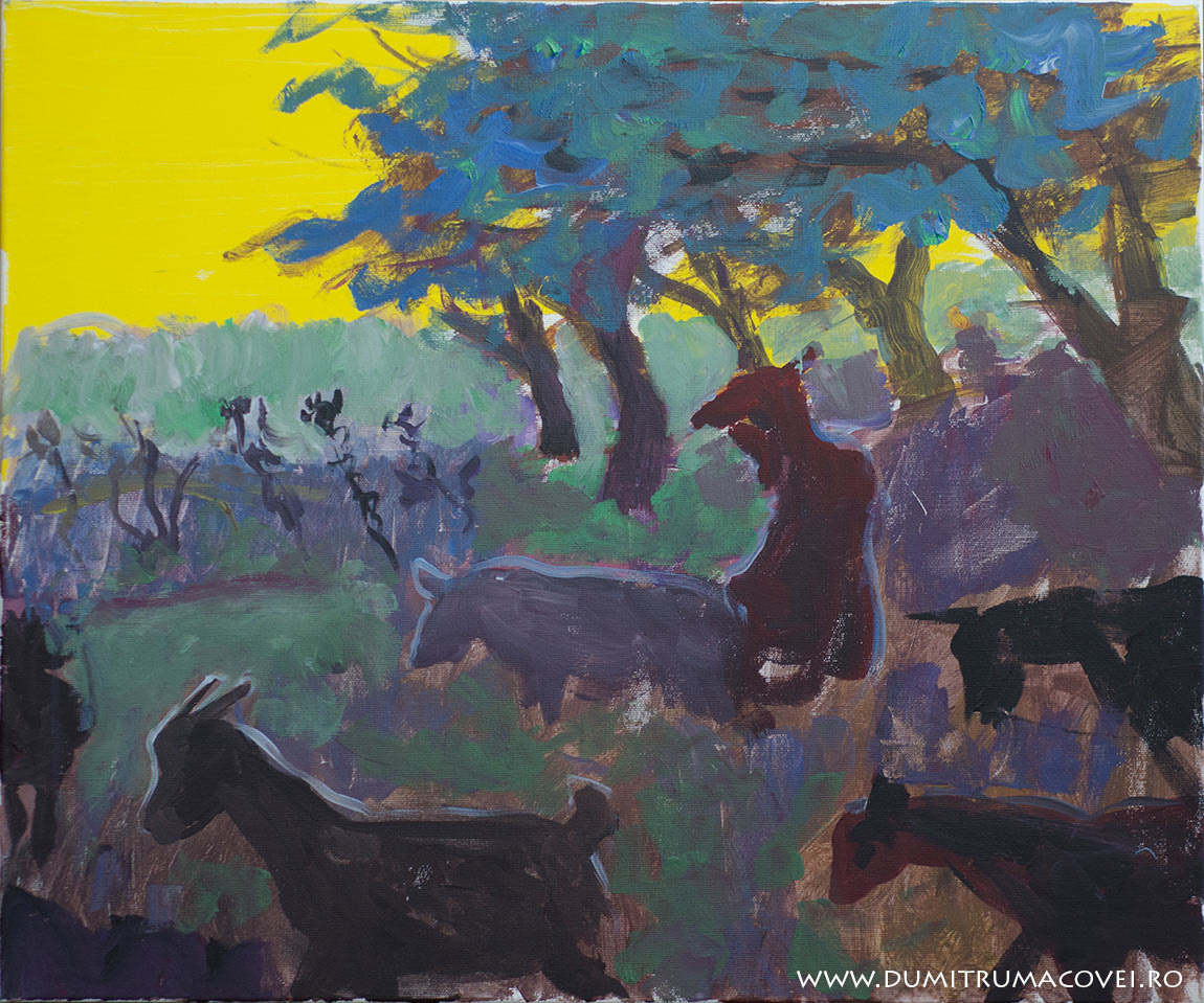 pictor Dumitru Macovei, acril pe panza, 60 x 50