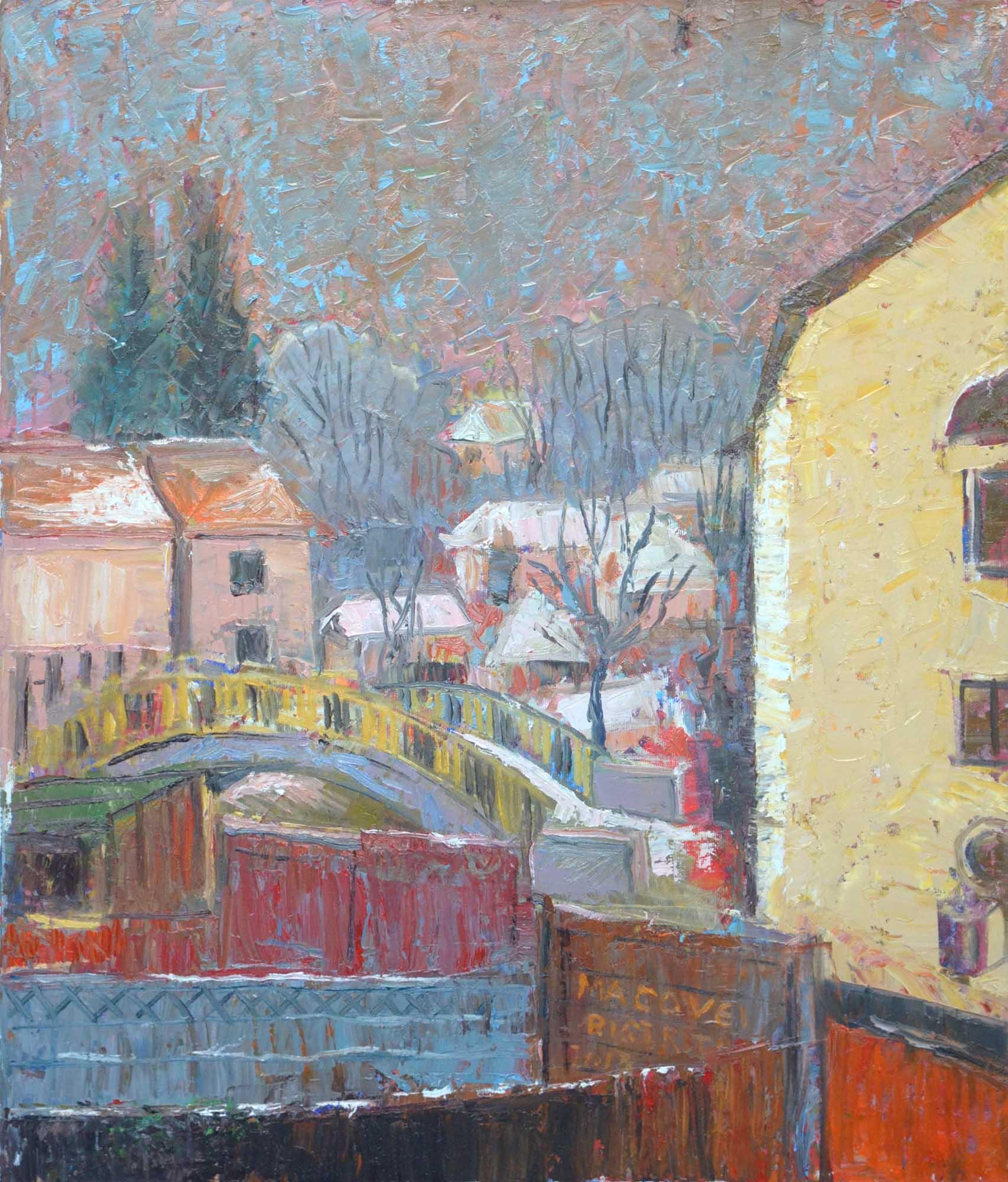 pictor Dumitru Macovei, Pod, Bistrita