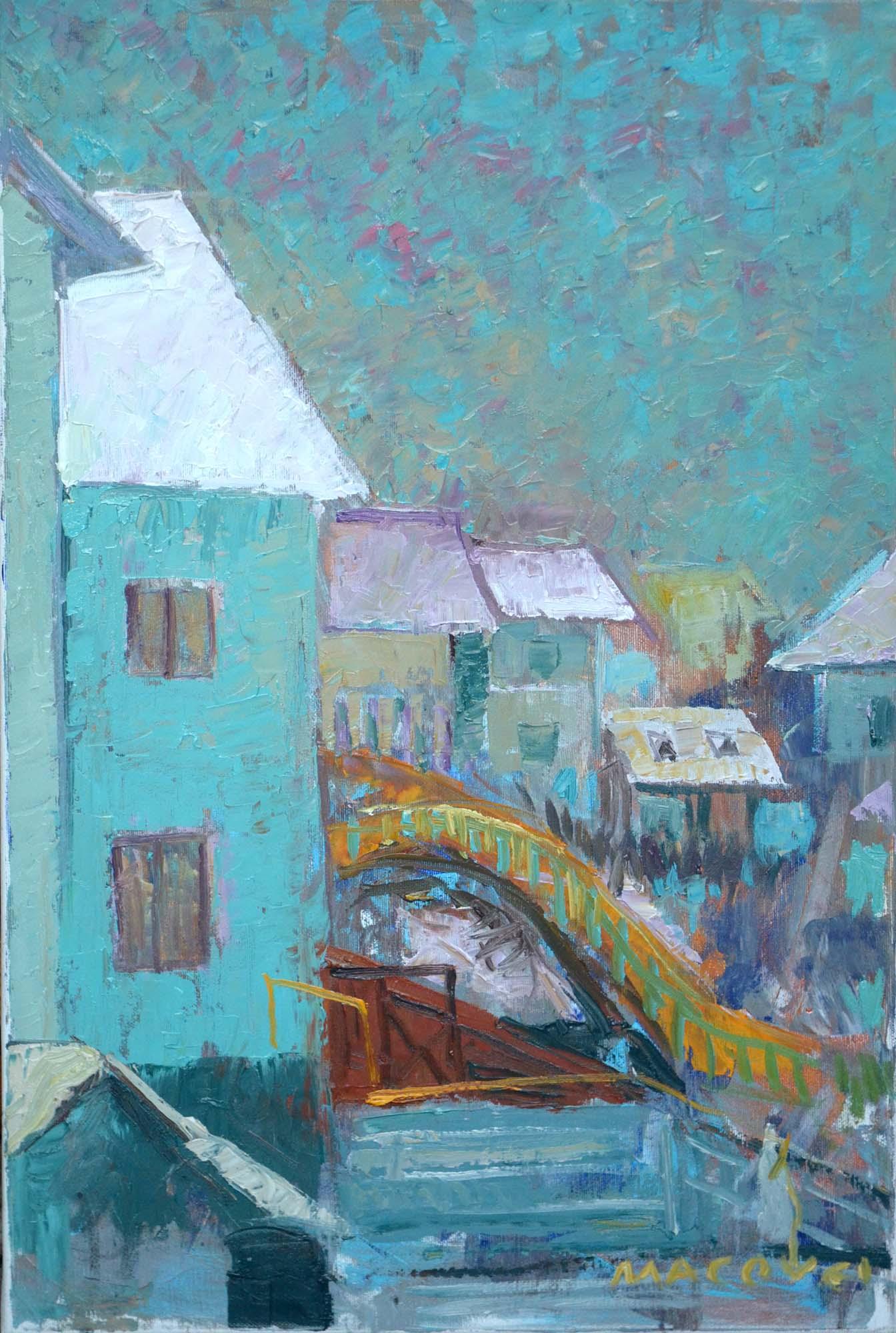 pictor Dumitru Macovei, Pod II, Bistrita