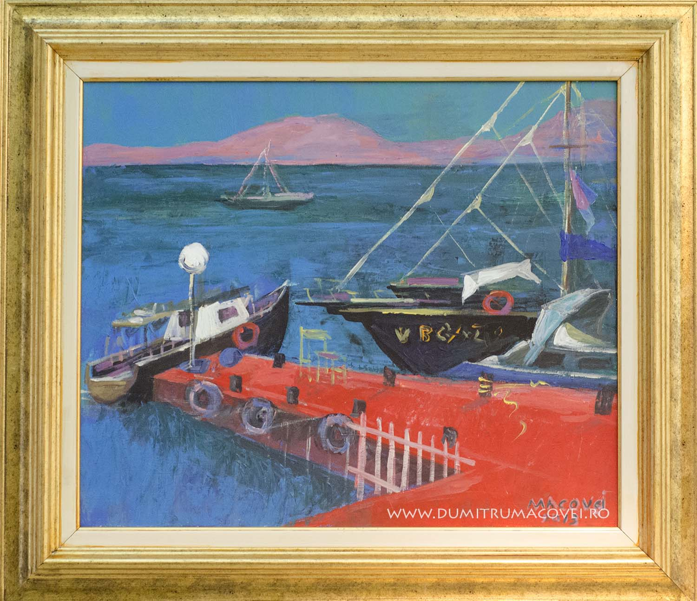 Barci in port, Balcic