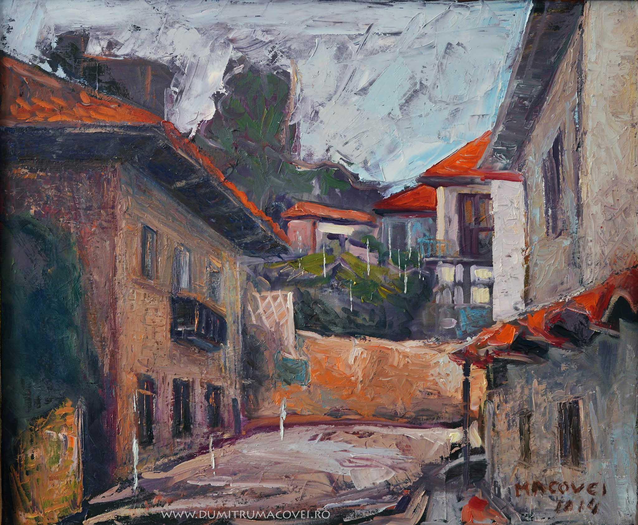 pictor Dumitru Macovei_Strada in Balcic 2