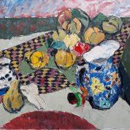 Fructe si cana cu flori